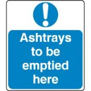 Mandatory Safety Sign - Ashtrays Be Emptied 032